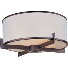 Banded 3 Light Flush Mount