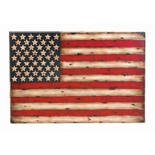 Toscana American Flag Replica Metal Wall Décor