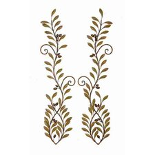 Urban Trends Down Face Fish Metal Wall Décor (Set of 2)