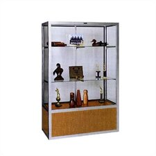 No. 334/B Freestanding Display Case with Glass Back Panel