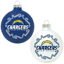 NFL Home and Away Glass Ornament Set (Set of 2)