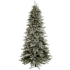 Frosted Frasier Fir 8.5' Green Artificial Christmas Tree with 550 Multicolored LED Lights with Stand