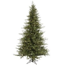"Castlerock Frasier Fir 7' 6"" Green Artificial Christmas Tree with 540 Warm White LED Lights with Stand"