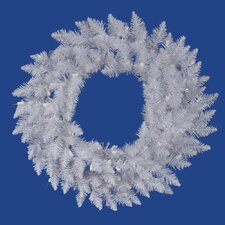 "Crystal White Spruce 72"" Wreath"