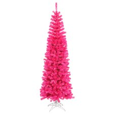 Pencil 5.5' Pink Artificial Christmas Tree with 250 Pink Lights