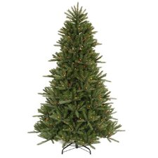 "Vermont Instant Shape 7' 6"" Green Artificial Christmas Tree with 800 Multicolored Dura-Lit Mini Lights with Stand"