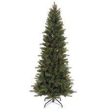 Blue Spruce Instant Shape 7.5' Green Artificial Christmas Tree with 450 Multicolored Dura-Lit Mini Lights with Stand