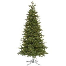 "Maine Balsam Fir 8' 6"" Green Artificial Christmas Tree with 700 LED Italian Multicolored Lights with Stand"