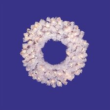 Prelit Crystal  Wreath with Clear Lights