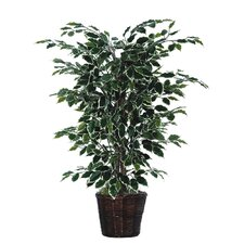 Deluxe 4' Artificial Potted Natural Ficus Tree in Yellow