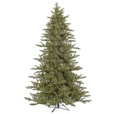 "Baldwin 6' 6"" Green Spruce Artificial Christmas Tree with 450 LED Warm WhiteLights with Stand"