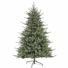 "Colorado 7' 6"" Green Spruce Artificial Christmas Tree with 720 LED Multi-color Lights with Stand"
