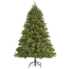 "Belvedere 7' 6"" Green Spruce Artificial Christmas Tree with 700 Dura-Lit Clear Lights with Stand"