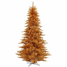 "4' 6"" Copper Fir Artificial Christmas Tree with 250 Mini Clear Lights"