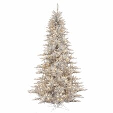 "5' 6"" Silver Fir Artificial Christmas Tree with 400 Mini Clear Lights"