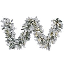 Snow Ridge Sprays Garland with 100 LED Lights