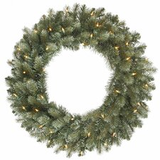 Colorado Blue Spruce Wreath with 200 Dura-Lit Lights