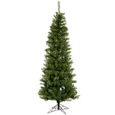 "Salem Pencil Pine 4' 6"" Green Artificial Christmas Tree with 150 Clear Lights with Stand"