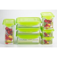 Premium 14 Piece Rectangle Food Storage Container Set