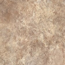 "Ovations Textured Slate 14"" x 14"" Vinyl Tile in Sand"