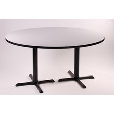 "29"" High Round Bar and Café Table with 2 Cross Bases and 2 Columns"