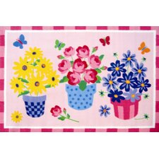 Olive Kids Blossoms and Butterflies Flower Kids Rug