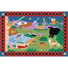 Olive Kids CampFire Friends Kids Rug