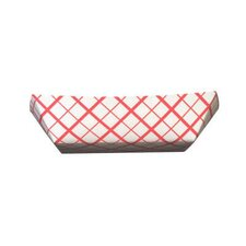3 lbs Paper Food Baskets in Red / White