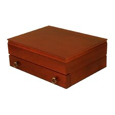Lancaster Flatware Storage Chest in Deep Mahogany