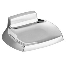 Contemporary Wall Mounted Soap Holder in Triple Plated Polished Chrome