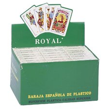 Spanish Plastic Playing Cards (Set of 24)