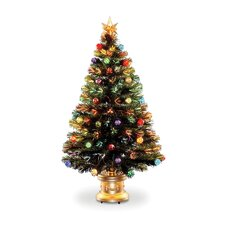 "Fiber Optic Fireworks 2' 8"" Green Artificial Christmas Tree with Multicolor Light"