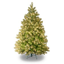 "Douglas Fir Downswept 4' 6"" Green Artificial Christmas Tree with 450 Pre-Lit Clear Lights with Stand"