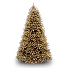 "Douglas Fir Downswept 7' 6"" Beige Artificial Christmas Tree with LED White Lights with Stand"