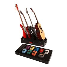 4 Electric Guitar Stand and Pedal Board Gig Box