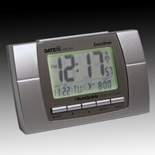 Radio Control LCD Alarm Clock with Calendar, Temperature, Moon Phase