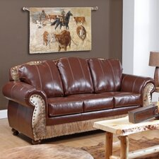 Saddle Me Up Grain Leather Sofa