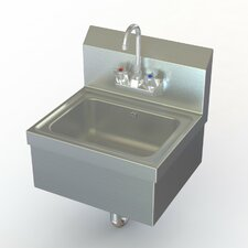 "NSF 17"" x 15"" Extra Heavy Duty Hand Sink with Faucet"