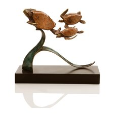 Steady Swimmers Turtle Trio Statue
