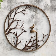Autumn Branch and Bird Wall Art