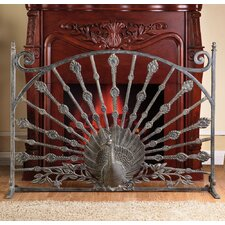 Peacock Aluminum Fireplace Screen