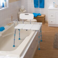 Adjustable Bath and Shower Transfer Bench with Reversible Backrest