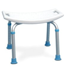 Adjustable Bath and Shower Chair with Non-Slip Seat in White
