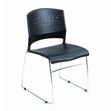 Fully Assembled Black Plastic Stack Chair (Set of 2)