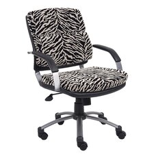 Mid-Back Microfiber Office Chair with Padded Arm Rests