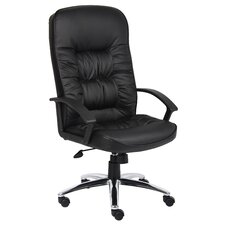 High-Back Leatherplus Office Chair with Arms