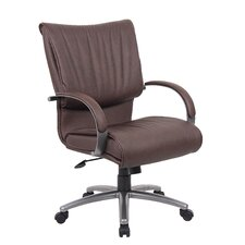 Mid-Back Leatherplus Executive Chair with Arms