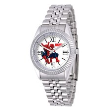 Men's Spider-Man Silver Tone Status Watch