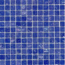 "Elida Glass 12"" x 12"" Mosaic in Cobalt Oil"