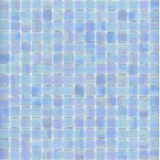 "Elida Glass 12"" x 12"" Mosaic in Powder Blue"